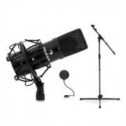 Set microfone Palco & Studio DJ PA com microfone suporte e filtro pop-up preto