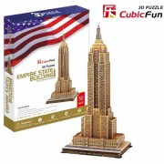 Puzzle 3D Cubic Fun - Empire State Building, 55 piese (Cubic-Fun-MC048H)
