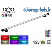 Tube LED RGB 6.5W Submersible 58cm Aquarium IP68 12V ref tla-10