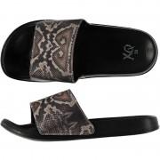 Merkloos Zwembad slippers met slangen print voor dames 38 - Badslippers