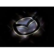 Эмблема со светодиодной подсветкой красного и белого цвета Mazda «140x114»