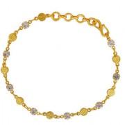 MissMister Gold Plated CZ Studded Round Shaped Linked Light Weight Fashion Bracelet Women Girls Latest