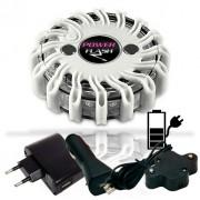 SET - výstražné LED světlo Power Flash 301B + nabíjecí sada