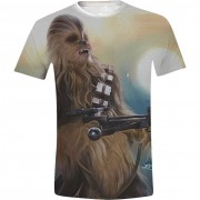 Star Wars - Chewie Full Printed Men T-Shirt - White, Size: S, M, L, XL