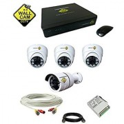 Videocon CCtv Camera 2.4mp camera with Complete set with 4 Camera and DVR and 1 TB Hardisk