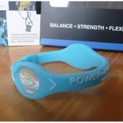 Balanční náramek s hologramem Power Balance - světle modrý-bílý