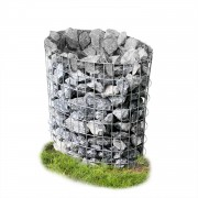 [pro.tec]® Gavión ovalado - cesta de piedras para jardín
