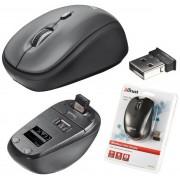 Trust Mouse Ivy Wireless USB Ottico Compatto 1600 Dpi per PC Portatili Notebook Tablet Grigio