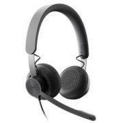 Слушалки с микрофон Logitech Zone Wired USB Headset - UC, Graphite, 981-000875
