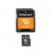 Card de memorie Intenso 4GB Micro SDHC Clasa 4 + Adaptor SD