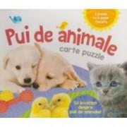 Pui de animale - carte puzzle