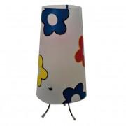 Max FC048-B01 Stolní lampa dětská bílá - barevné kytičky