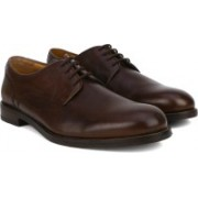 Clarks Coling Walk Walnut Leather Lace Up For Men(Brown)