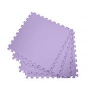 Covoras Tip Puzzle pentru Copii, 4 Piese din Spuma Moale, Culoare Violet, Dimensiuni 122x122cm
