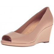 Naturalizer Women's Olivia Wedge Pump, Taupe, 6.5 M US