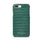 iPhone 7 Plus Leather Cover in Deep Shine Sage Small Croc