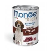 Monge Fresh Cibo Umido Per Cani Adulti 400 Gr - Vitello - 24 Pezzi