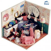 Kisoy Kisoy Romantic and Cute Dollhouse Miniature DIY House Kit Creative Room Perfect DIY Gift for FriendsLovers and Families