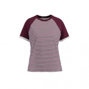 America Today gestreept T-shirt Elise rood/wit