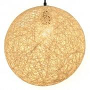 vidaXL krémszínű gömb alakú függőlámpa 35 cm E27