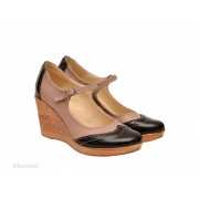 Pantofi dama piele naturala cu platforma cod P159 - LICHIDARE STOC 35