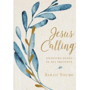 Jesus Calling Large Text Cloth Botanical Cover Enjoying Peace in His Presence