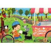 Puzzle de podea Ravensburger - Dogs Love Ice Cream, 24 piese XXL (05448)