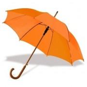 Geen Oranje paraplu met houten handvat 103 cm