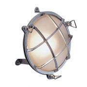 Bullseye wandlamp chroom 17.5cmØ+voet