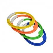 Alcoa Prime Pack Of 4 Dive Diving Rings Swimming Pool Pick Up Ring Underwater Game Toys