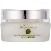 Dermika Vitamina P Plus creme antirrugas nutritivo para a pele sensível com tendência a aparecer com vermelhidão 50 ml