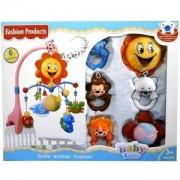 Бебешка музикална въртележка за кошара - Слънце и животни, 503116541