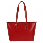 Dámská kožená červená kabelka S0416
