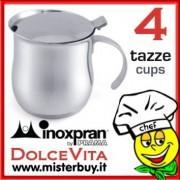 CAFFETTIERA SERVIRE INOX 4 TAZZE DOLCEVITA INOXPRAN