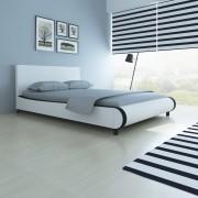 vidaXL Säng i vit konstläderklädsel 140 cm