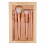 Makeup Revolution London Conceal & Define zestaw Pędzelek do cieni i korektora 1 szt + Pędzelek do różu 1 szt + Pędzel do blendowania 1 szt dla kobiet