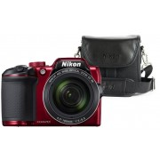 Nikon Aparat Coolpix B500 Czerwony + Torba CS-P08