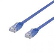 Deltaco nätverkskabel U/UTP Cat6, flat, 1m, 250MHz, blå