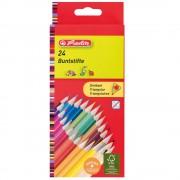 Creioane colorate triunghiulare 24 culori/set HERLITZ