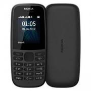 Мобилен телефон NOKIA 105 (TA-1174) Dual SIM BLACK 2019, 16KIGB01A07