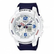 reloj digital analogico estandar BGA-230-7B casio baby-g - azul + blanco