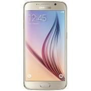 "Telefon Mobil Samsung Galaxy S6, Procesor Octa Core 1.5GHz / 2.1GHz, Super AMOLED capacitive touchscreen 5.1"", 3GB RAM, 32GB Flash, 16MP, Wi-Fi, 4G, Dual Sim, Android (Auriu) + Cartela SIM Orange PrePay, 6 euro credit, 4 GB internet 4G, 2,000 minute natio"