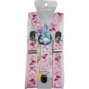 Swarn Y- Back Suspenders for Boys(Pink)