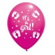 Balon latex it's a girl imprimat global roz 30cm
