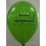 Léggömb, 26 cm, két oldalon nyomott Boldog születésnapot, vegyes szín (PTR0342)