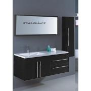 items-france NEOMA NOIR - Meuble salle de bain contemporain neoma noir 130x50x52