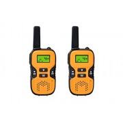 O-Best Walkie Talkies Kids Interphones Radio Transceiver 22 Channel FRS/GMRS 2 Way Radio 2 Miles (up to 3.7 Miles) UHF Handheld Walkie Talkies for Home Activities Outdoor Climbing (1 Pair) Orange