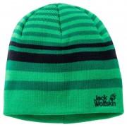 Jack Wolfskin Cross Knit Cap Kids Grön