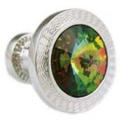 Mousie Bean Crystal Cufflinks Rd 70's Double Stone 001 Vitrail Medium