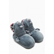 Mens Next Rhino 3D Slipper Boot - Grey